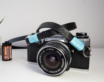 NERA leather shoulder strap for camera. Customizable length. True Italian Leather - FREE SHIPPING - Free Shipping