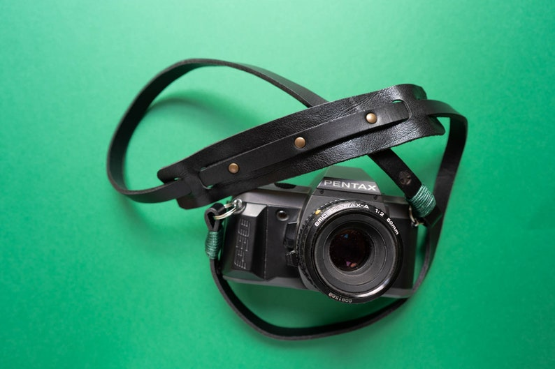 Leather camera strap for reflex mirrorless and instax  image 0
