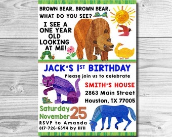 Brown Bear Party Etsy