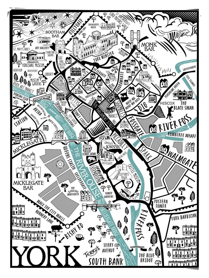 Map of York  Prints image 0