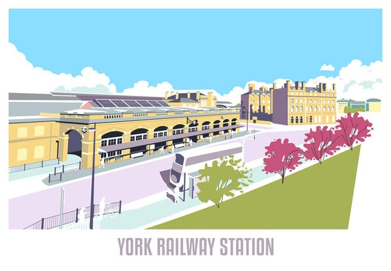 Vintage British Rail York Minster Railway Poster A4//A3//A2//A1 Print