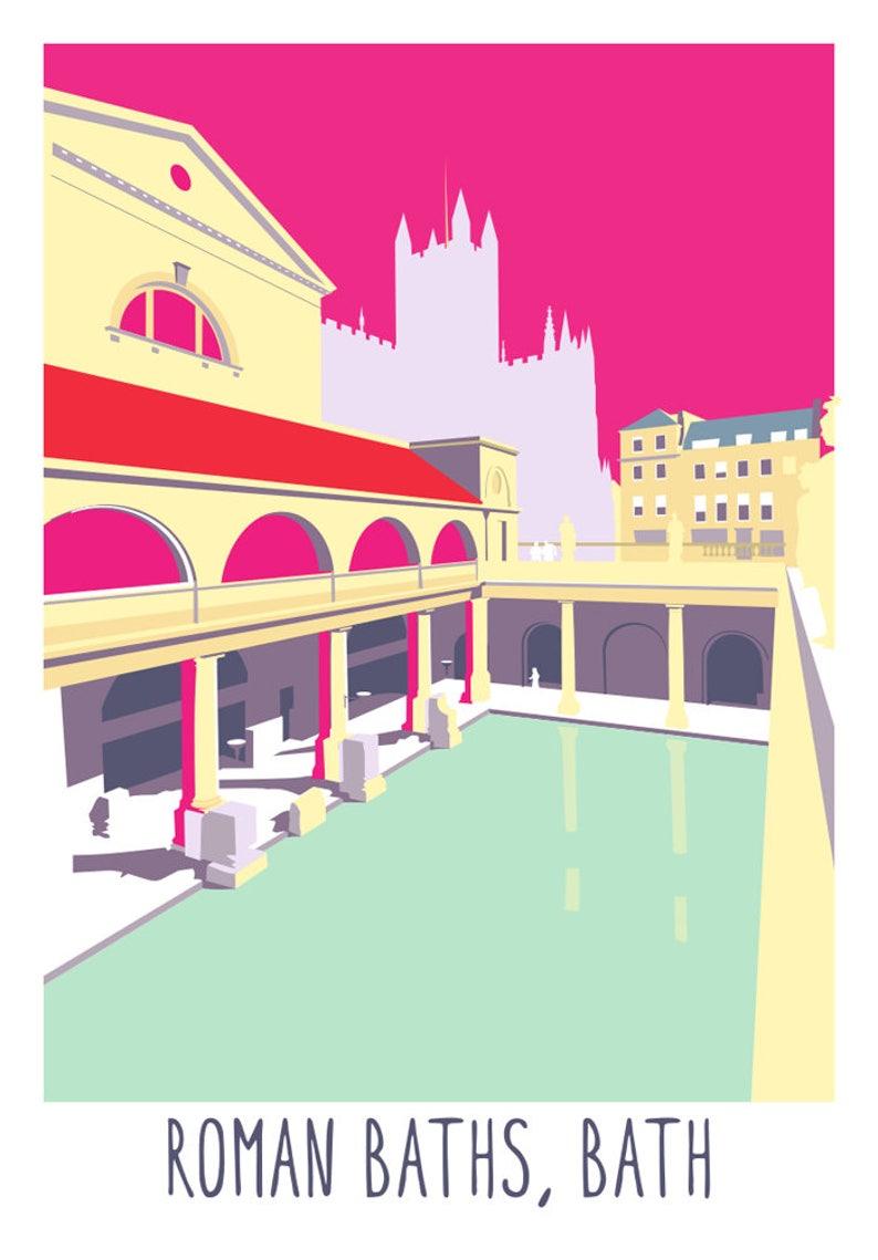 The Roman Baths Bath UK  Print image 0