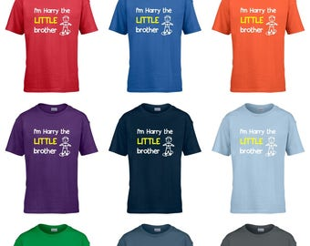 Personalised I'm The Little Brother Boys T-Shirt