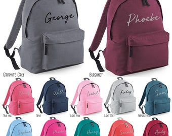 2e9398bc463 Personalised Script Name Backpack