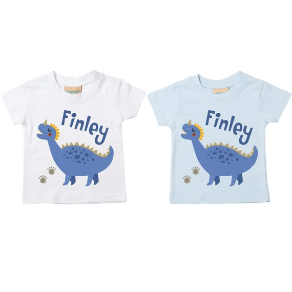 Personalised Dinosaur T-Shirts Bodysuits Printed Baby Toddler Matching Tops Boys Boys' Clothing (0-24 Months)