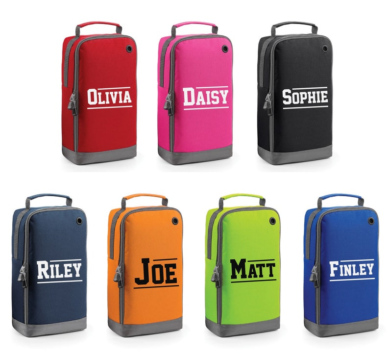 Personalised Varsity Name Shoe Bag (Bagbase)