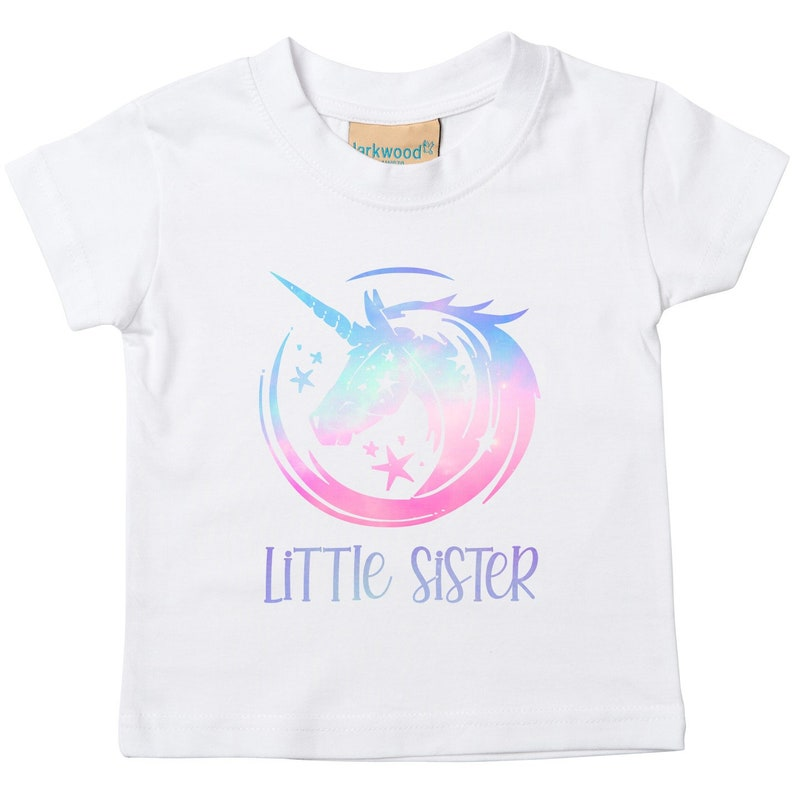 Pink Ombre Unicorn Big and Little Sister T-Shirts and Bodysuits