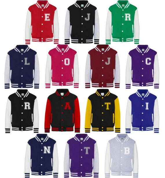 Direct 23 Ltd Personalized Initials Adults Varsity Jacket