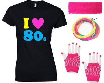 I Love The 80s Ladies T-Shirt & Accessories