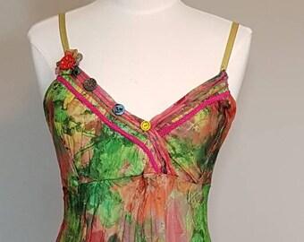 Bohemian Dress Floral Dress Maxi Dress Ruffle Dress Sun Dress Summer Dress Size Medium Dress Size 8 Dress Beach Dress Festival Dress