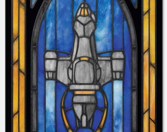 """Firefly """"Serenity""""  - Stained Glass window cling"""