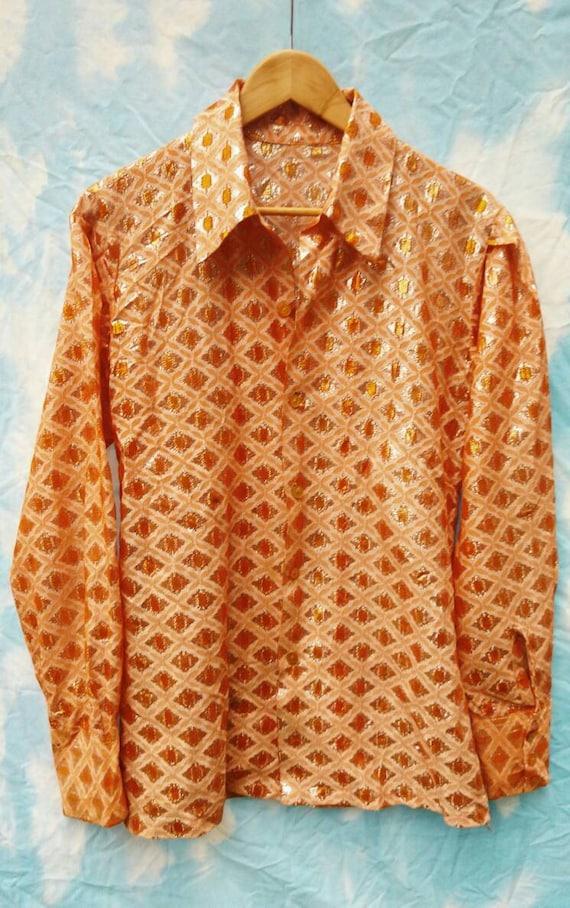 Vintage, Shiny, Patterned Men's Shirt