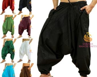 Oliv Green Harem pants women men Genie Pants Aladdin Pants Joggers
