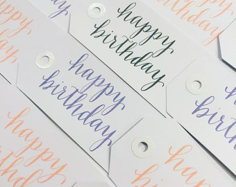 Birthday Gift Tags - Set of 25