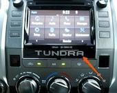2014 2015 2016 2017 2018 Toyota Tundra Vinyl Decal Radio Console Insert Letters