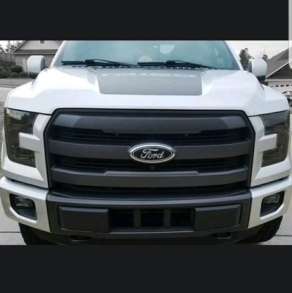 2015 2016 2017 Ford F-150 Head Light Precut Tint Vinyl Cover Smoked Overlay