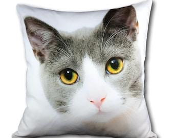 "Personalised Photo Cushion One side Personalised Cushion Photo Cushion Photo Photo Gift 16""x16"" Filling FREE"