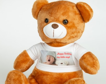 Personalised 33 cm Teddy Bear Printed with your picture/design