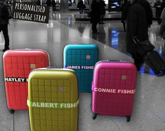 Personalised Luggage Strap 180cm x 5cm Suitcase Safe Luggage Belt With Your Name / Text