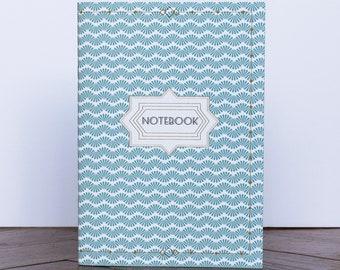 Notebook A5/A6 Eco friendly Retro blue