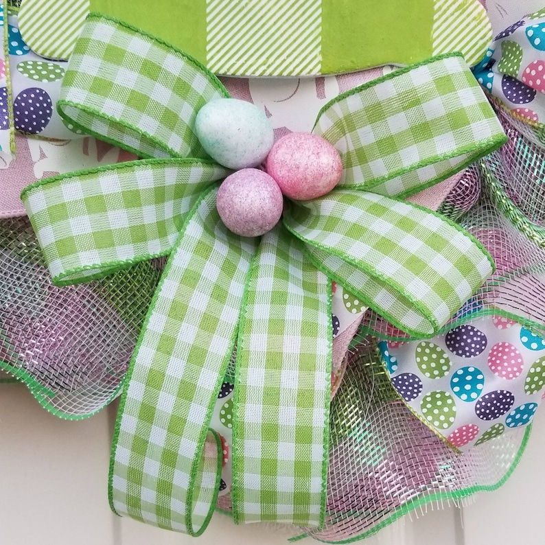 Easter decor screen door Easter wreath front door decor Easter eggs Easter bunny decor spring decor storm door wreath Spring wreath