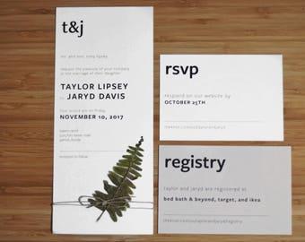 Modern Wedding Invitation Package