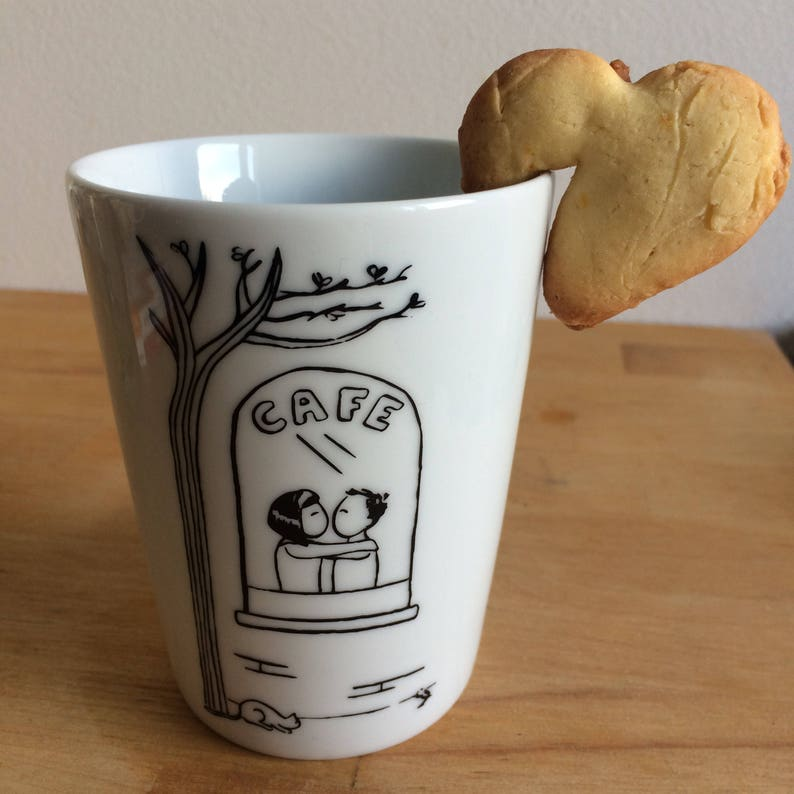 Four Cup Set: The Generator of Random Love Stories