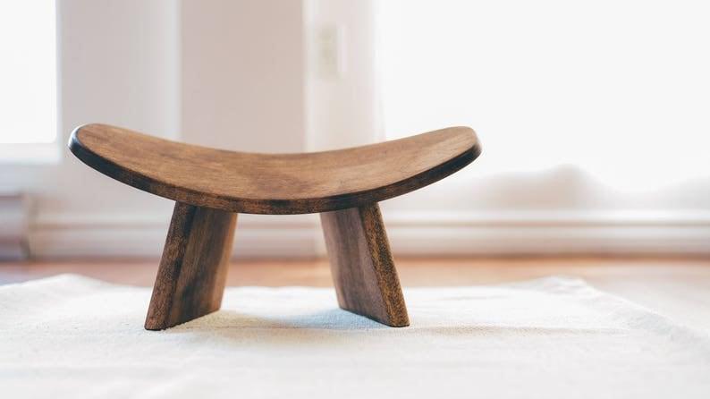 IKUKO™ by Bluecony Basic Fixed Version Wooden Kneeling Ergonomic Meditation Bench