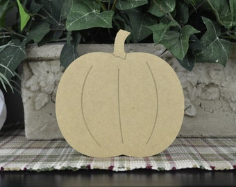 Pumpkin Wood Cutout- DIY Fall Wood Craft- Free Standing- Unfinished Autumn Mantle Decor- Thanksgiving Craft for Kids- Rustic Farmhouse Decor