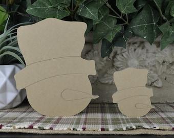 Snowman Head Wood Cutout- DIY Snowman- Wood Holiday Craft- Christmas Craft- Unfinished Snowman for Winter Mantle Decor- Farmhouse Decor