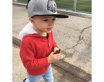 d278b4a1780 Heritage Wool Black Brim Snapback Hat - Baby