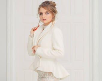 Short Wedding Dress with Coat