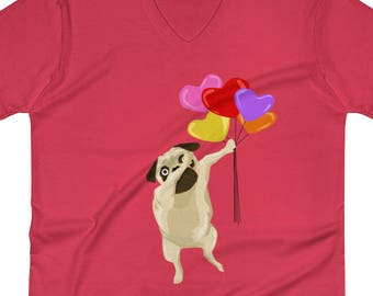 Valentine Shirt | Valentines Day Gifts | Pug Valentine | Cute Valentines | Pet Valentine | Dabbing Pug | Pug Lover Gifts | Dog Lover Gift