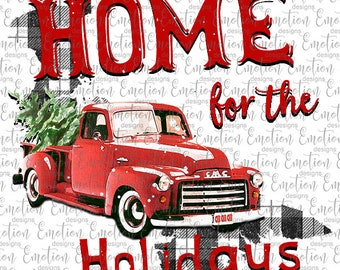 Home For The Holidays Prince Edward Island clipart, instant download, Sublimation graphics, PNG