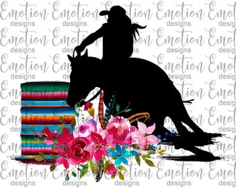 17dc4c48aba81 Serape Barrel Racing Rodeo PNG Clipart, instant download, sublimation  graphic