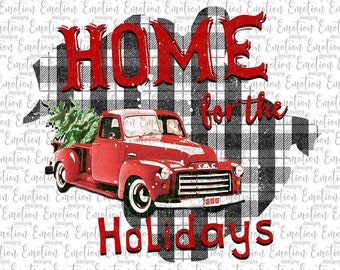 Home For The Holidays New Brunswick clipart, instant download, Sublimation graphics, PNG