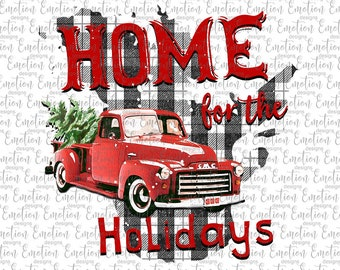 Home For The Holidays Quebec clipart, instant download, Sublimation graphics, PNG
