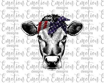 Usa Bandana Cow Etsy