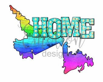 Home, province, Newfoundland and Labrador, Canada, clipart, sublimation, scrapbooking, PNG