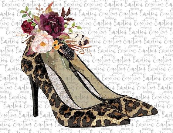 high heel leopard shoes