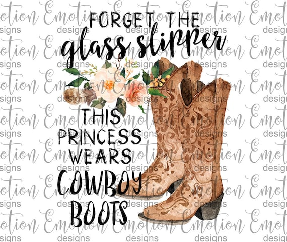 Funny Boots Are My Glass Slippers Cowgirl Cowboy Boot T-Shirt