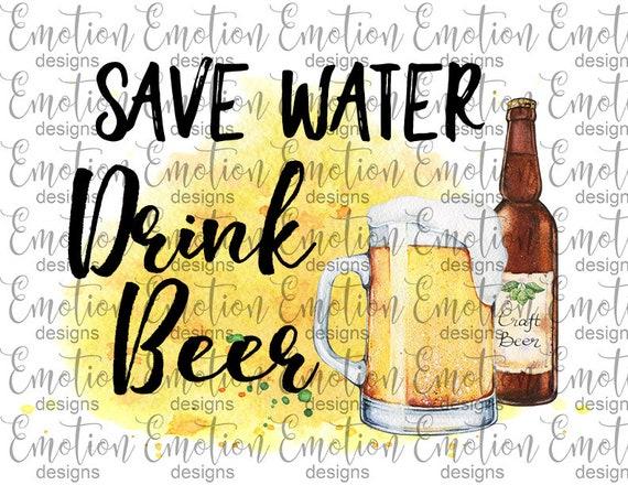 Speichern Wasser Trinken Bier Clipart Sofortiger Download Sublimation Grafiken Png