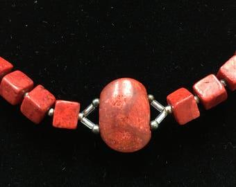 Sponge Coral Necklace- Handmade