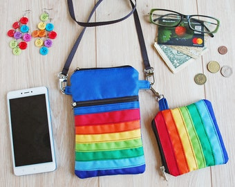 Rainbow Pride LGBT Custom Zip Handbag Coin Purse Change Cash Wallet