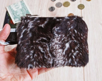 f4ae4aa0afd4 Pony Faux Fur Coin Purse with Clasp