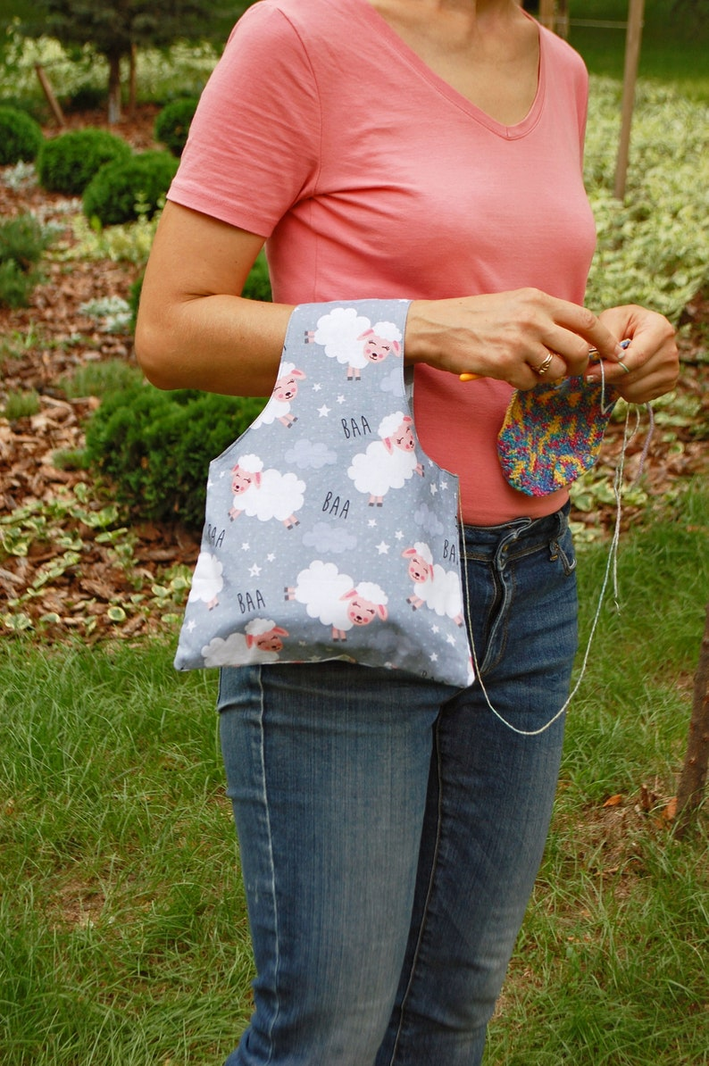 Project Knitting Bag and Crochet Supply Pouch with Funny image 0