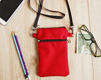 Small Neck Pouch Bag for Cell Phone, Travel Neck Wallet, Custom Mobile Phone Pouch