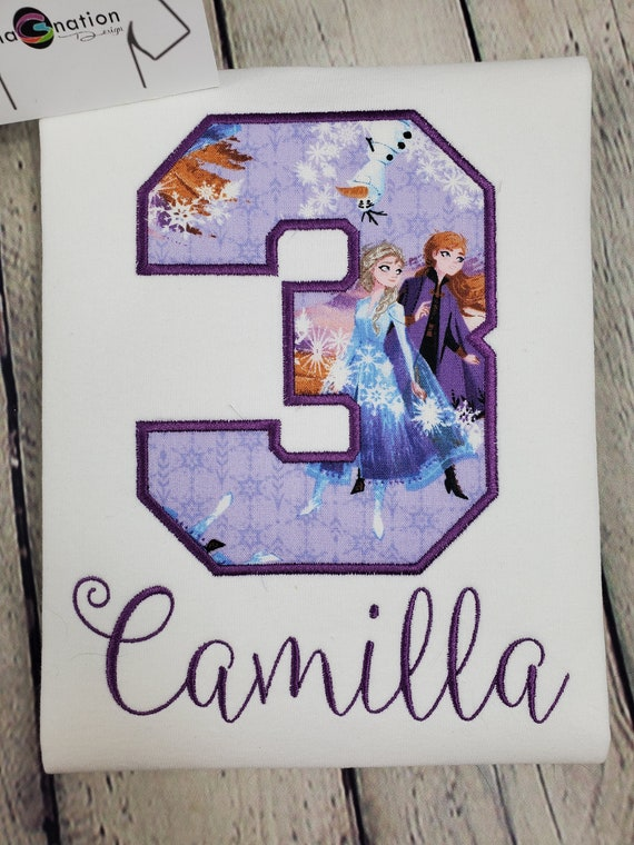 frozen shirtany name and number purple and bluecake smashphoto shootbirthdaybabygirlspersonlized