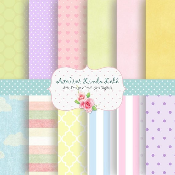 Baby Digital Paper Baby Patterns Printable Baby Patterns Digital Baby Scrapbook Paper