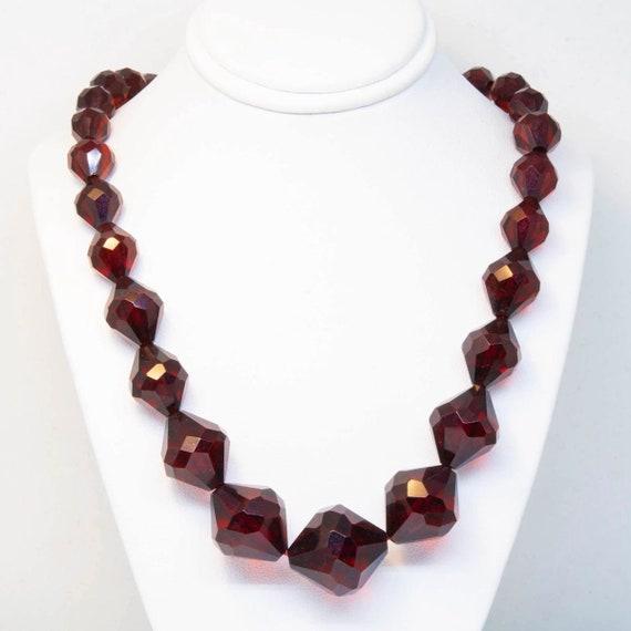 Single Cherry Amber Bakelite Necklace
